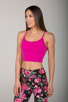 Hot Pink En Pointe Yoga Tank Crop Top
