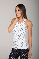 Polka Dot Yoga Tank Top Pattern Activewear