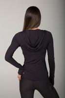 Black Lightweight Breathable Hoodie back view