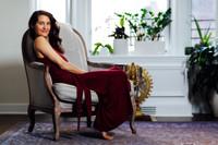 Elena Brower Tie Waist Long Dress