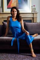 Soft Tie Waist Chambray Dress Elena Brower