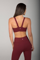 Rusty Red Open Back Bra back view
