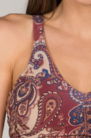 Tapestry Inspired Clay Moroccan Paisley Print