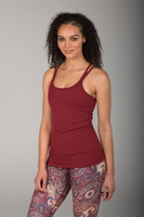 Double-Strap Scoop Neck Tank Top in Clay