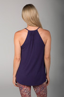 Dark Blue Soft Tank Top back view