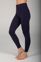 Classic Navy High Waist Yoga Bottom side view