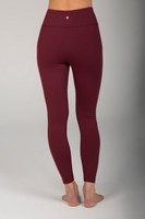 Brownish Red High Rise 7/8 Yoga Tights back view