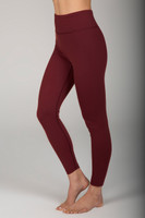 High Waist 7/8 Yoga Legging in Clay side view