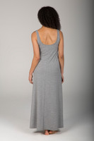 Heather Grey Long Pocketed Beach Dress back view