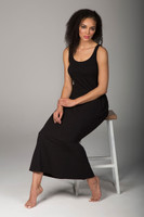 Long Comfortable Beach Dress in Black