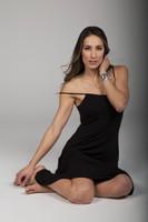 Black Midi Spaghetti Strap Slip Dress