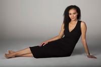 Little Black Midi Dress Sitting