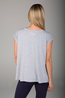 Soft Classic Grey Dolman T-Shirt back view
