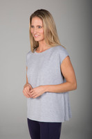 Soft Dolman Yoga Tee in Heather Grey