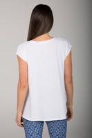 White Dolman Yoga T-Shirt back view