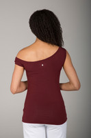 Rusty Red One-Sleeve Tee back view