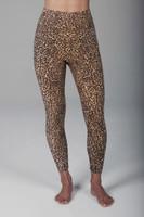 High Waist 7/8 Yoga Leggings Leopard Print front view