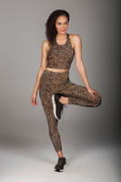Wild Leopard Print Crop Top and Legging Outfit