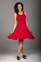 Fit & Flare Yoga Dress in Chili