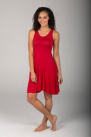 Chili Red Fit & Flare Yoga Dress