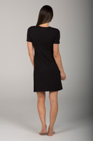 Comfortable Little Black Dress back view