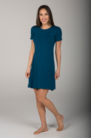 Casual Blue Yoga Shift Dress