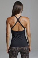 Open Back Cross Back Yoga Tank