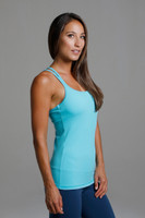 Grace Double-Strap Tank (Calypso)  side supportive view