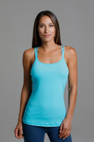 Grace Double-Strap Tank (Calypso) front with supportive build