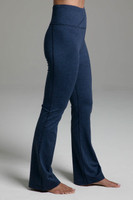 Ultra High Waist Goddess Bootcut (Iris Heather) side wide leg