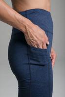 Pocket Yoga Legging (Iris Heather) close-up pocket view