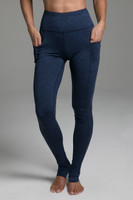 Pocket Yoga Legging (Iris Heather) cozy front view