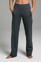 Cozy Traveler Pant (Charcoal Heather) front view with pockets