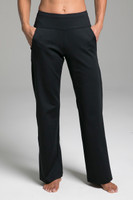 Cozy Traveler Pant (Black Cozy) front view with pockets
