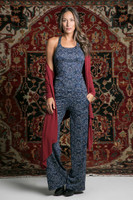 Tapestry Inspired Print Yoga Tank and Wide Leg Pant Outfit