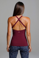 Criss-Cross Back Open-Back Yoga Tank Top back view