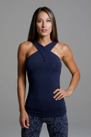 Glamour Goddess Luxe Halter front view support tank