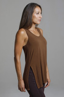 Tank Top with Side Slit Detailing