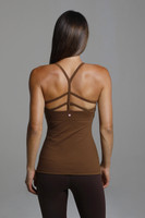 Strappy Back Bronze Yoga Tank Top