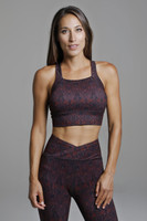 High Support Sports Bra in Red Pattern