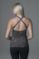 Criss Cross Open Back Yoga Tank back view