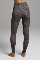 High Rise Yoga Leggings in Floral Pattern back view