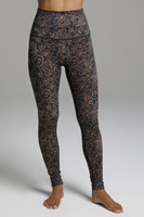 Ultra High Waist Compressive Yoga Tights in Floral Print