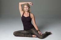 Black Yoga Tank with Wild Animal print leggings yoga outfit