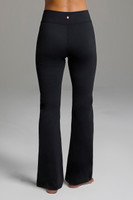 Black High Rise Yoga Bottoms back view