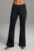 High Waist Flared Yoga Pants in Black