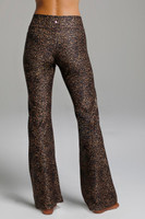 High Waist Flare Yoga Pants in Perfect Leopard