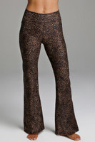 Flattering High Rise Leopard Print Yoga Bottoms