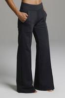High Waist Wide Leg Pocket Yoga Bottoms in Black