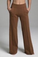 Perfect Wide Leg Yoga Bottoms in Bronze with Pockets
